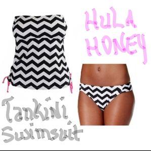 NWT Hula Honey Chevron Tankini Swimsuit (Juniors)